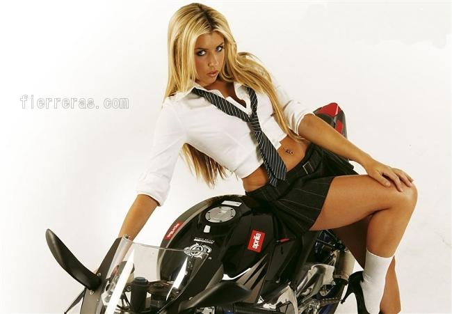 Deportivas Chicas Mujeres Motos Pisteras Motocicletas